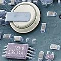 Circuit Board Battery, Sem by Steve Gschmeissner
