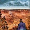 City - Arizona - Grand Canyon - The Vista Print by Mike Savad