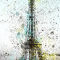 City-art Paris Eiffel Tower II by Melanie Viola
