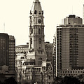 City Hall From The Parkway - Philadelphia by Bill Cannon