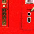 Classic Coke Dispenser Machine . Type 2 . Long Cut Print by Wingsdomain Art and Photography