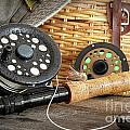 Close-up Fly Fishing Rod  by Sandra Cunningham