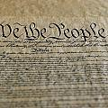 Close View Of The Us Constitution by Kenneth Garrett