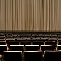 Closed Curtain In An Empty Theater by Adam Burn