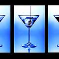 Cocktail Triptych Print by Jane Rix