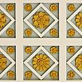 Coffered Ceiling Detail at Getty Villa Print by Teresa Mucha