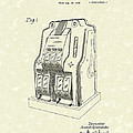 Coin Operated Casino Machine 1938 Patent Art by Prior Art Design