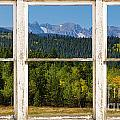 Colorado Indian Peaks Autumn Rustic Window View by James BO  Insogna