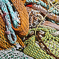 Commercial Fishing Nets and Rope Print by Paul Edmondson