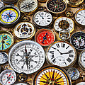 Compases And Pocket Watches  by Garry Gay