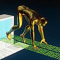 Computer Artwork Of The Internet As A Sprinter by Laguna Design
