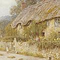 Cottage Near Wells Somerset by Helen Allingham