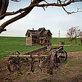Country Home And Wagon by Athena Mckinzie