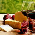 Countryside Wine  Cheese And Fruit by Elaine Plesser