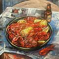 Crawfish Celebration Print by Dianne Parks