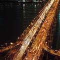 Crowded Bridge by SJ. Kim