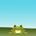 Cute Frog Sitting On The Grass by © Roctopus