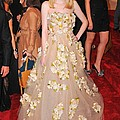 Dakota Fanning Wearing A Dress by Everett