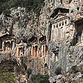 Dalyan Rock Tombs Turkey by Julie L Hoddinott