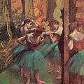Dancers Pink And Green by Edgar Degas