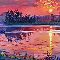 Daybreak Reflection by David Lloyd Glover