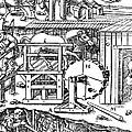 De Re Metallica, Ventilation Of Mines Print by Science Source