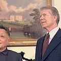 Deng Xiaoping And Jimmy Carter by Everett