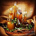 Different salad dressings Print by Anna Omelchenko