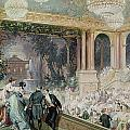 Dinner at the Tuileries Print by Henri Baron