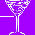 Do Not Panic - Drink Martini - Purple by Wingsdomain Art and Photography