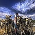 donkey rides Print by Meirion Matthias