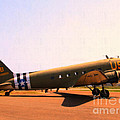 Douglas C47 Skytrain Military Aircraft . Painterly Style 7d15788 by Wingsdomain Art and Photography