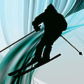 Downhill Skiing On Icy Ribbons by Elaine Plesser