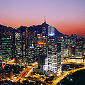 Downtown Hong Kong At Dusk by Jeremy Woodhouse