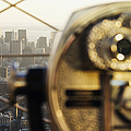 Downtown Manhattan Behind Coin Operated Binoculars by Jeremy Woodhouse