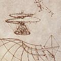 Drawings By Leonardo Divinci by Science Source