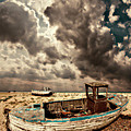 Dreamy Wrecked Wooden Fishing Boats by Meirion Matthias