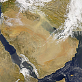 Dust And Smoke Over Iraq And The Middle by Stocktrek Images