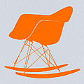 Eames Rocking Chair Orange by Naxart Studio