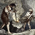 Early Humans Making Fire by Sheila Terry