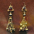 Earrings With Garnets by Andonis Katanos