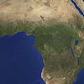 Earth Showing Landcover Over Africa Print by Stocktrek Images