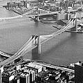 East River Bridges New York by Gary Eason
