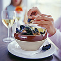 Eating Mussels by David Munns