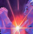 Eddie Vedder and Lights Print by Joshua Morton