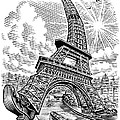 Eiffel Tower, Conceptual Artwork by Bill Sanderson