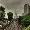 Eiffel Tower In Clouds by Stéphanie Benjamin