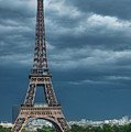 Eiffel Tower On A Stromy Weather by Mihaela Muntean