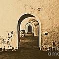 El Morro Fort Barracks Arched Doorways San Juan Puerto Rico Prints Rustic by Shawn O'Brien