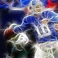 Eli Manning Ny Giants by Paul Ward